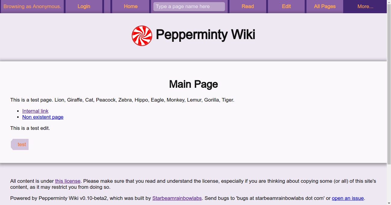 Main Page Example