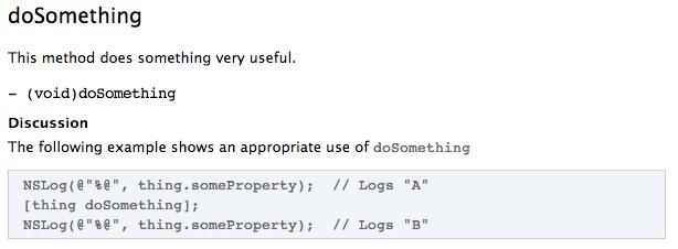 Documentation example with 3 slashes