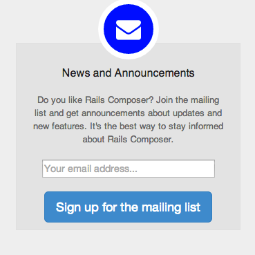 Sign up for the Rails Composer mailing list