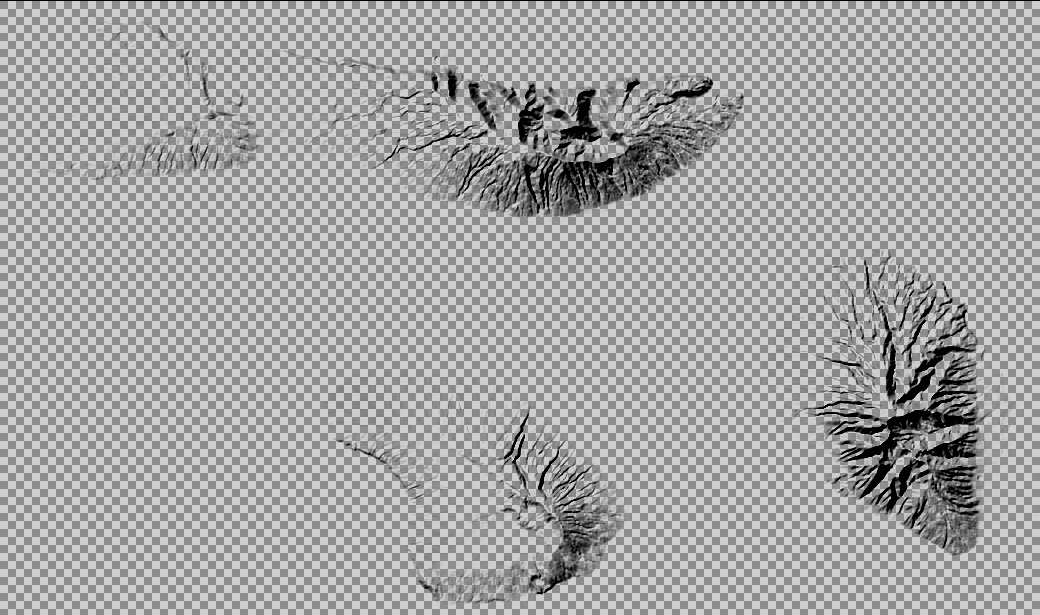 Transparent hillshade