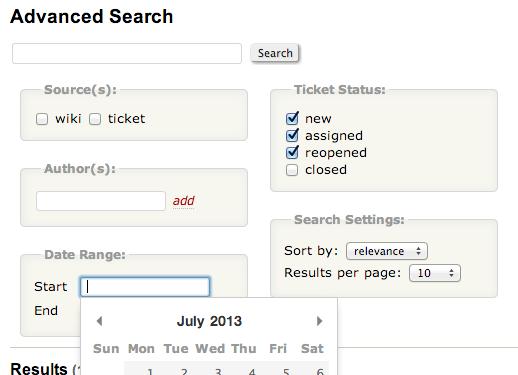 Advanced Search Plugin Screenshot