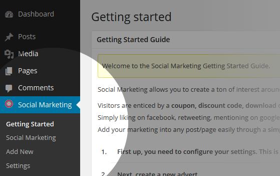 Social Marketing Menu