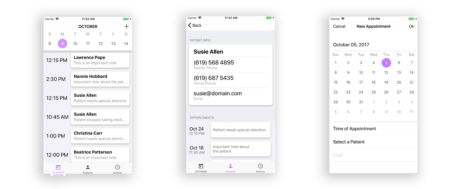 GitHub - agustinoromo/calendar-iOS: Appointment Scheduling Calendar