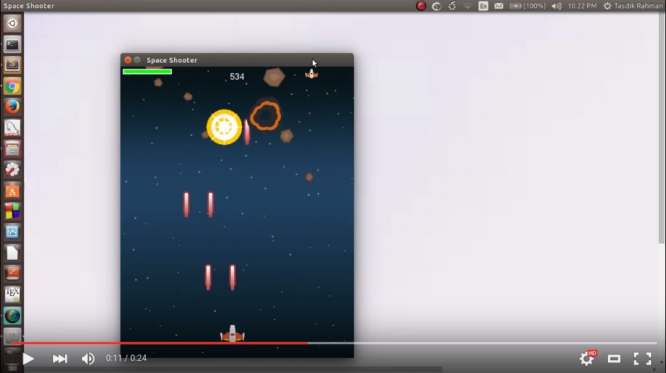 Space Shooter Demo - Youtube