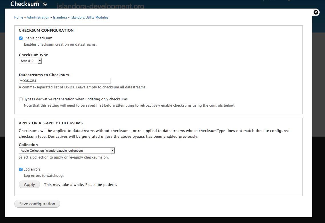 GitHub - Islandora/islandora_checksum: A simple module to