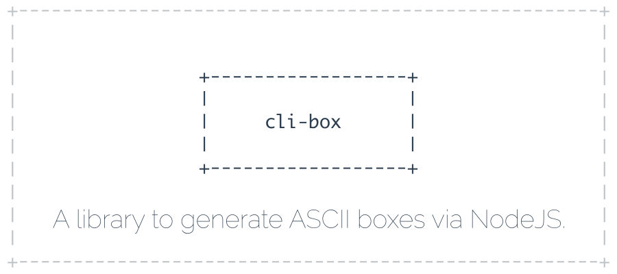 GitHub - IonicaBizau/node-cli-box: A library to generate