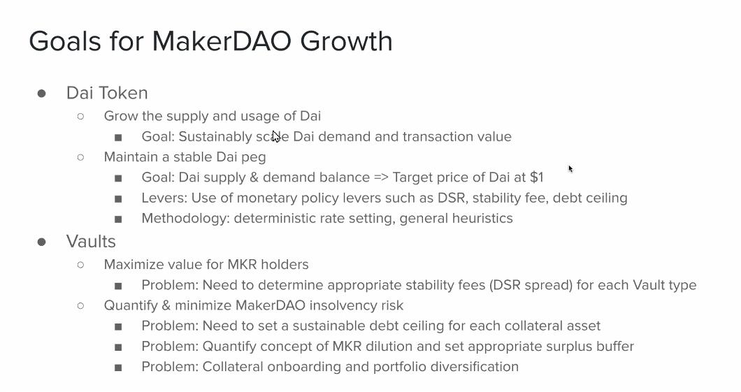 Goals for MakerDAO Growth