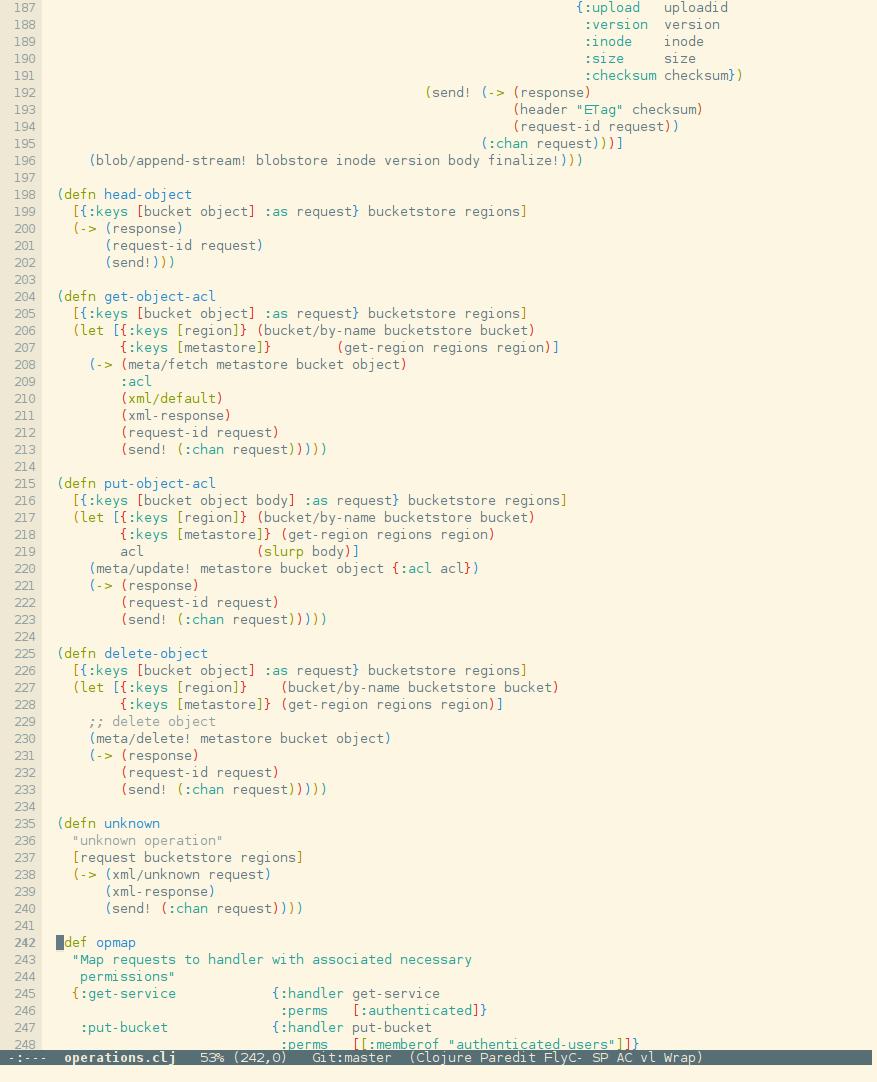 emacs config