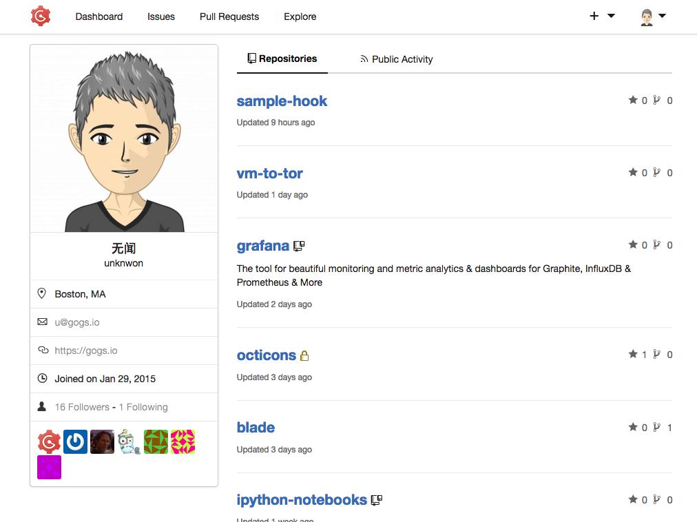 La page de profile ressemble vraiment à celle de Github