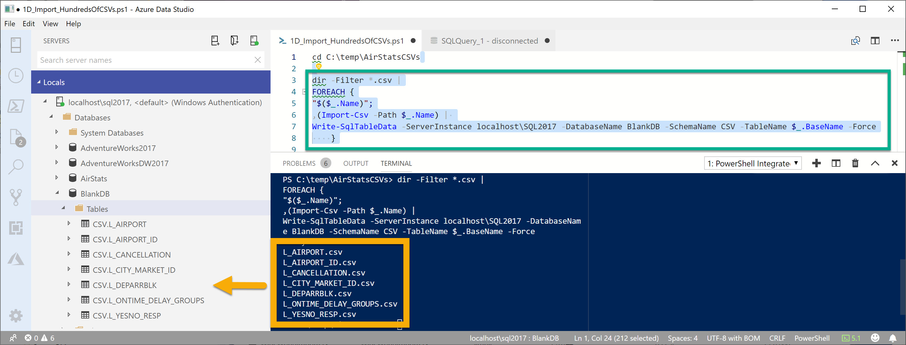 The PowerShell Extension is now in the Azure Data Studio