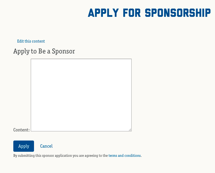 Apply for Sponsorship template shows Box `form` · Issue #4 · pinax ...