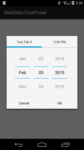 Github jjobesslidedatetimepicker a combined datepicker and the colors of the tab indicator and divider lines are customizable to fit your projects theme tested on android 40 voltagebd Images