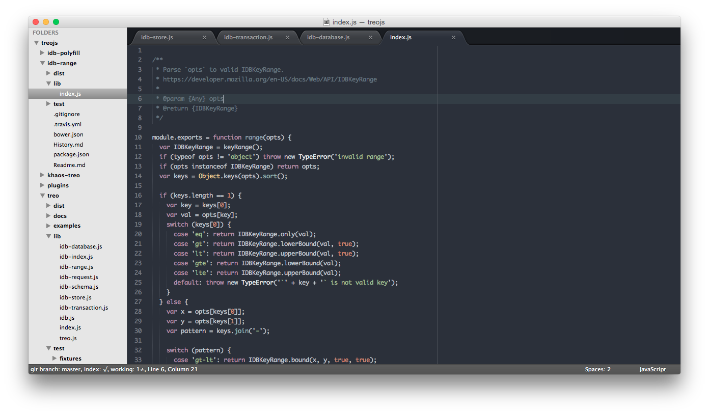 Sublime Text 2 + Spacegray
