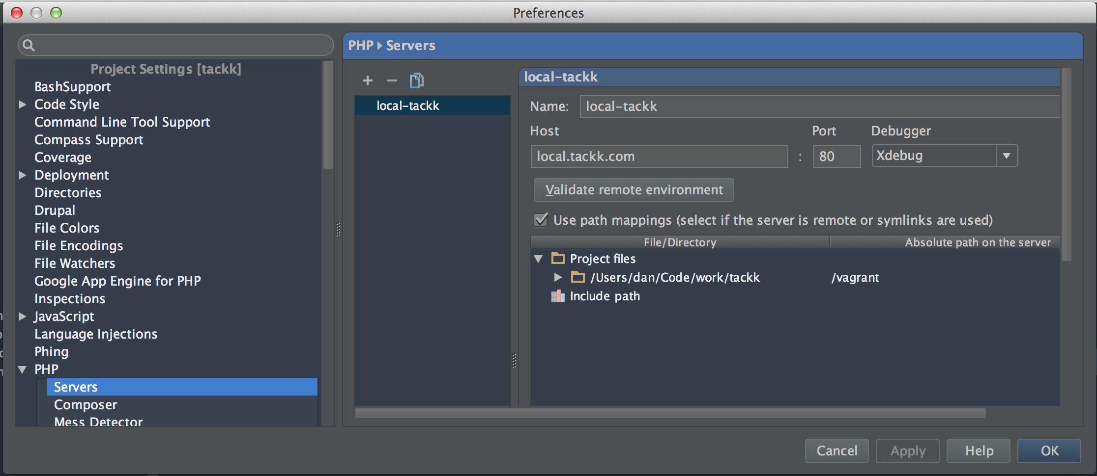 how to set port in phpstorm