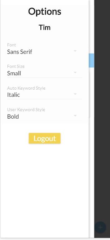 Option Screen