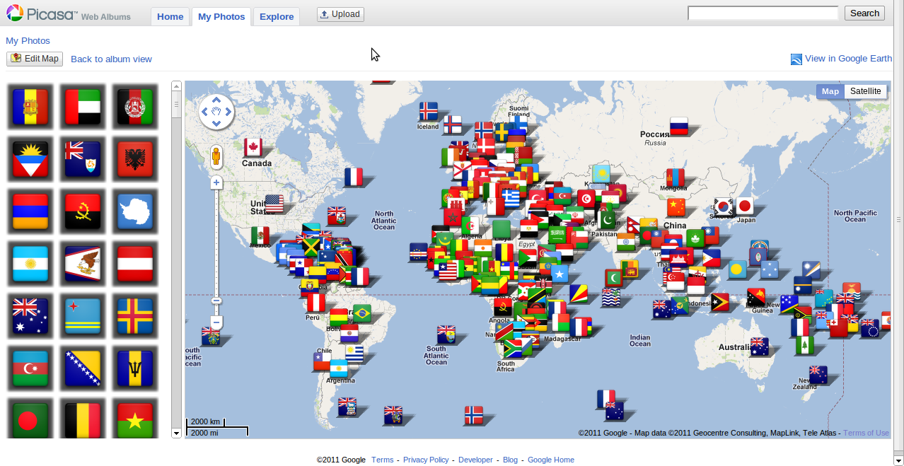 G+ users of the world picasaweb album