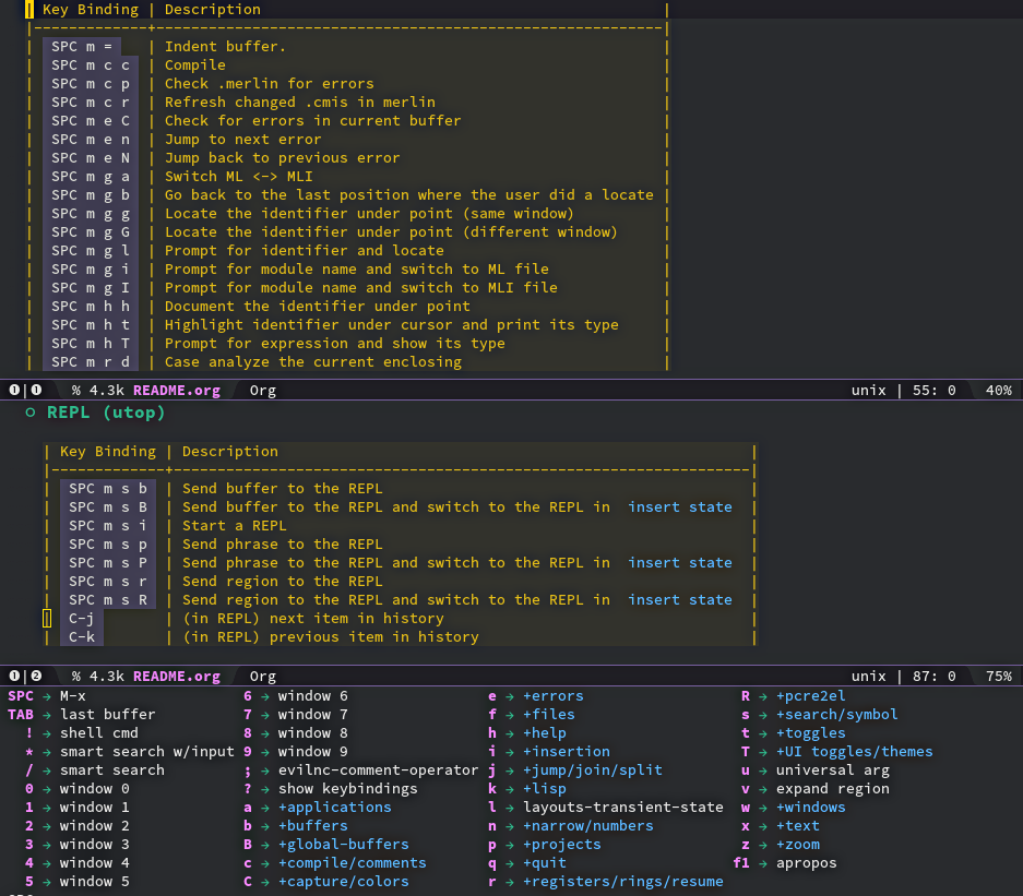 Spacemacs From Scratch · Ocaml/merlin Wiki · GitHub