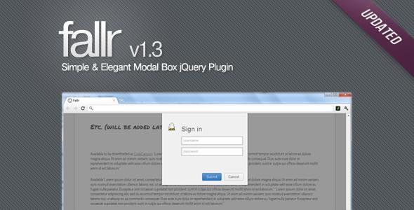GitHub - faisalman/fallr-js: Fallr js - Fancy, simple, yet elegant
