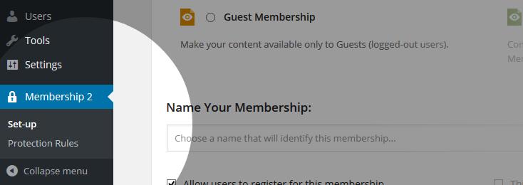 Membership2 Setup