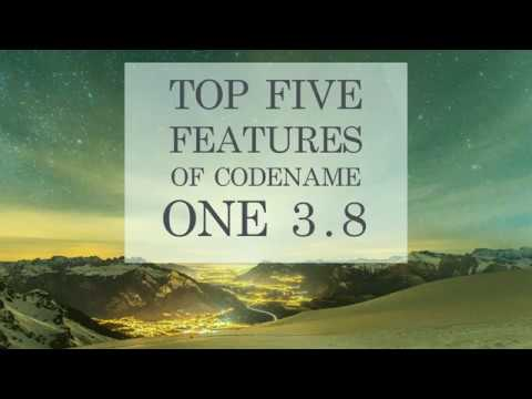 5 Amazing Features in Codename One 3.8