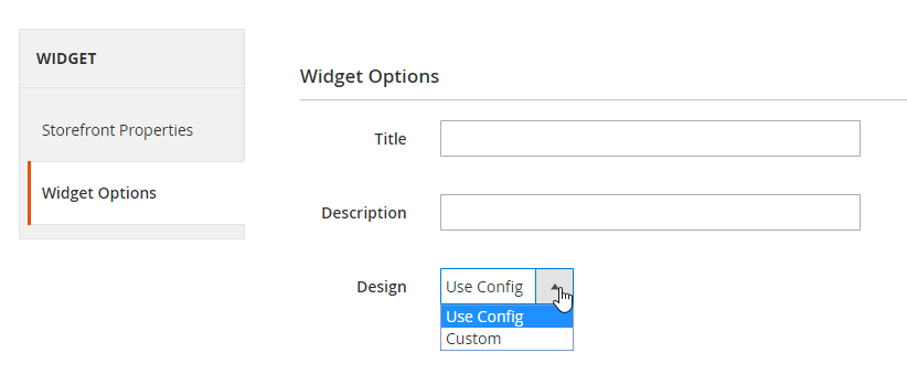 Configure Widget Options to display images of the Instagram Feed