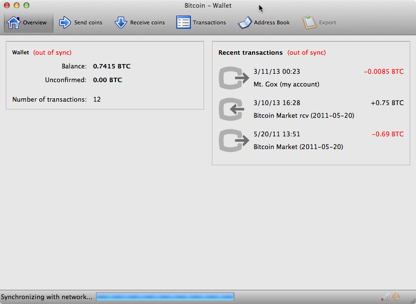 Screen shot demonstrating the original problem on Mac OS