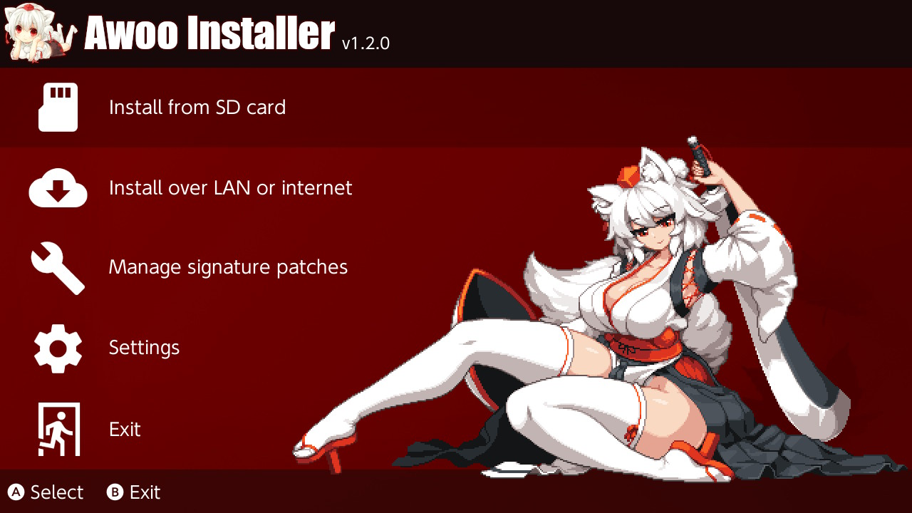 Awoo Installer Main Menu