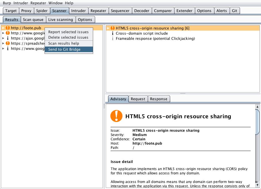 GitHub - PortSwigger/git-bridge: Store Burp data and collaborate via git