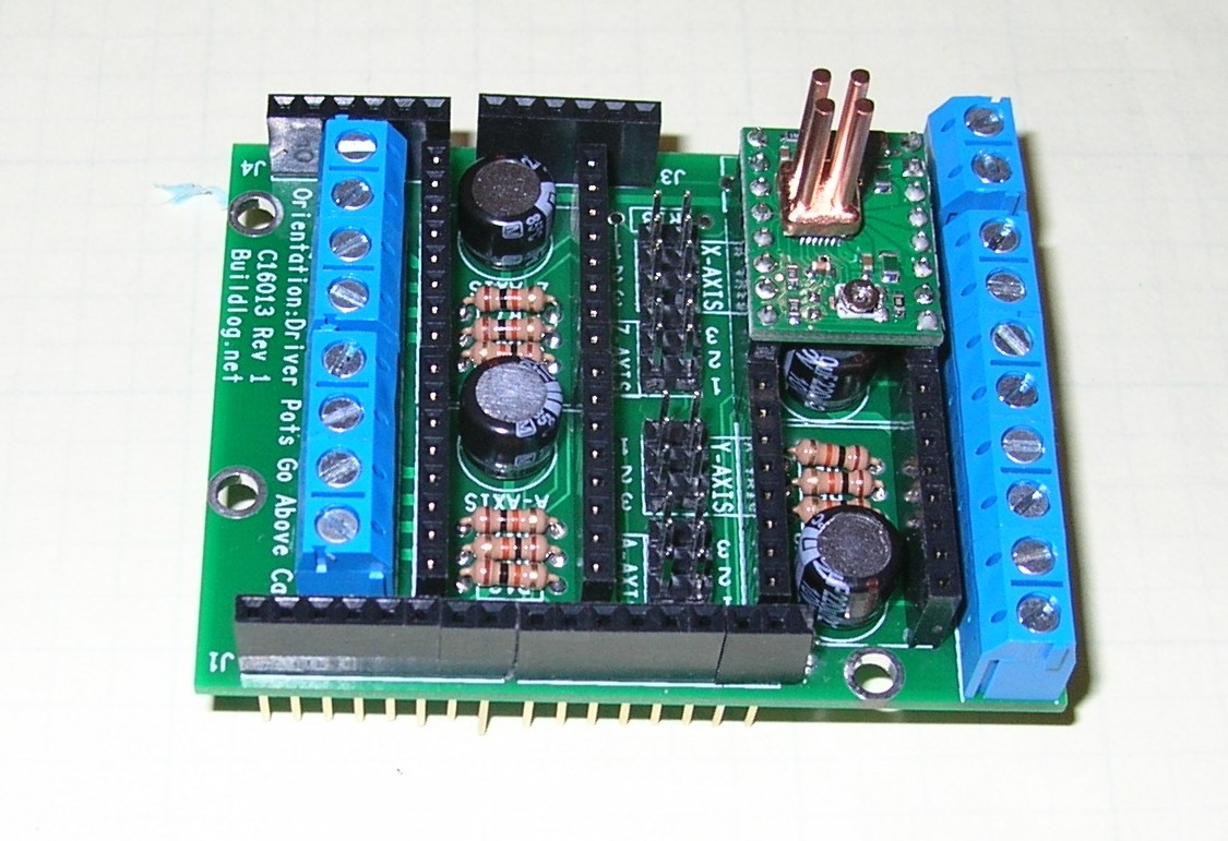 Replaceable drivers in case of damage. stepper shield