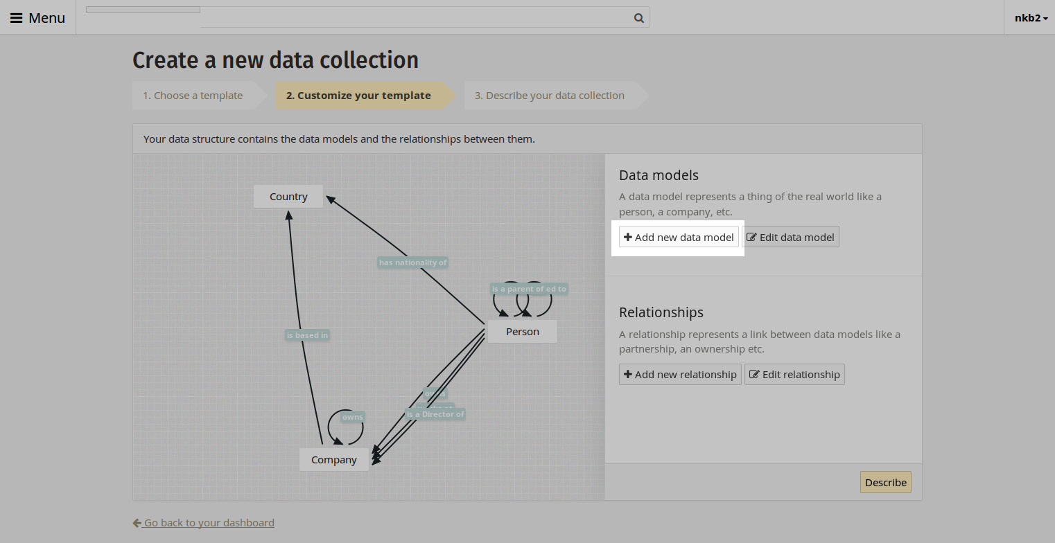 Add data model