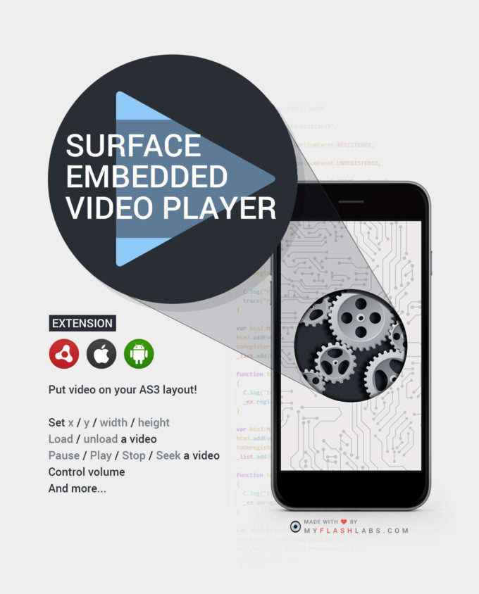 Surface Video Player ANE
