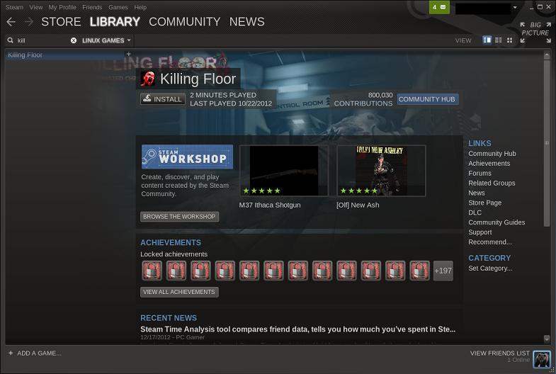 Killing Floor Dedicated Server Linux Appears In Games List Not