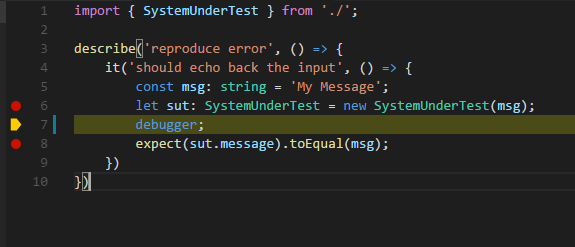 Unable to use breakpoints to debug TypeScript in Visual