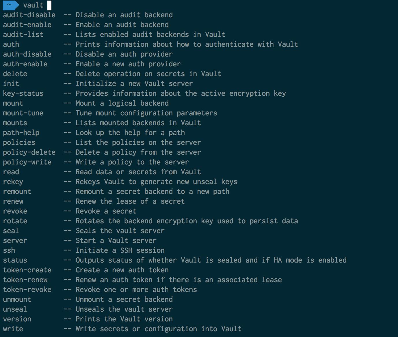 dotfiles/data/oh-my-zsh/plugins/vault at master · evilsocket
