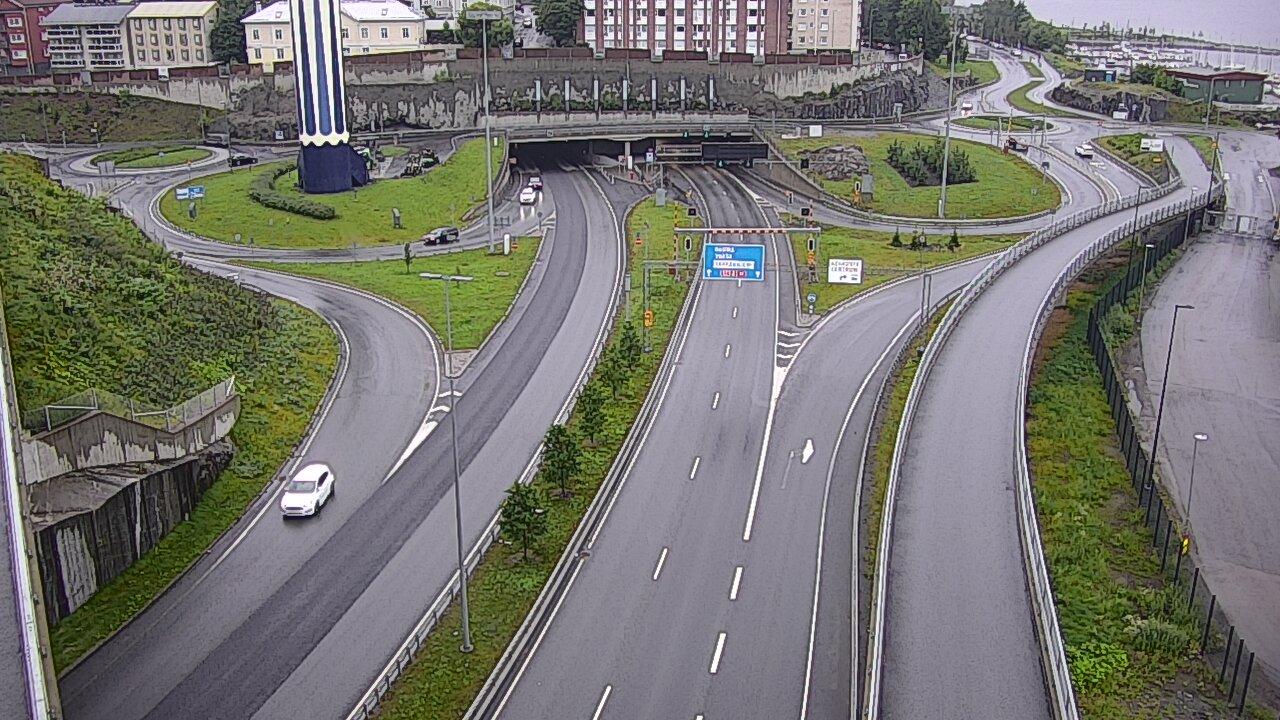 Kelikamerakuva Tie 12 Tampere, Rantatunnelin suu, itä.