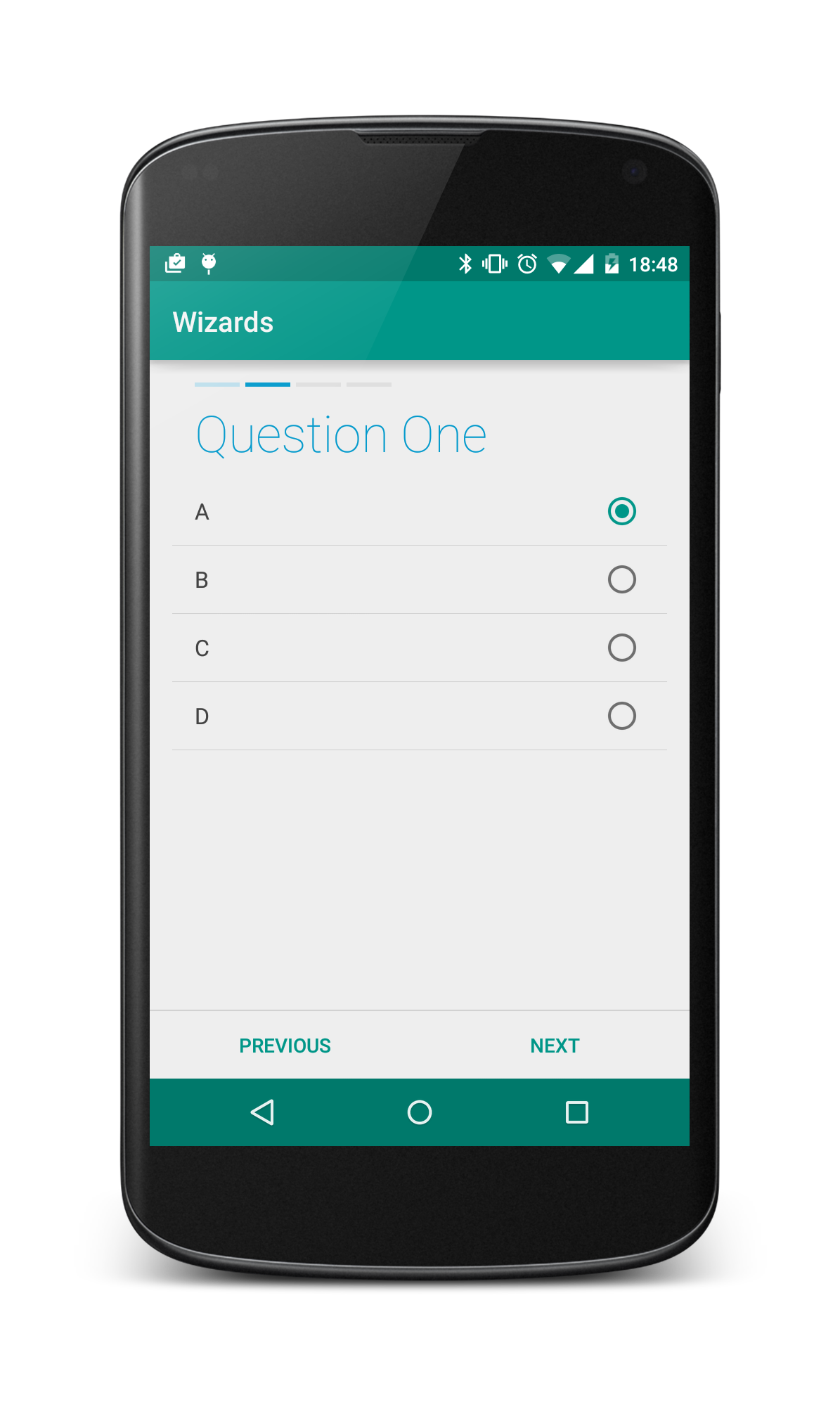 Android Lollipop Wizard Template