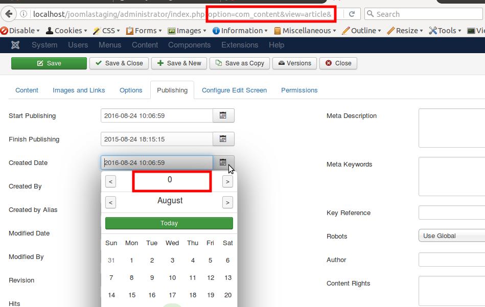 Joomla! Issue Tracker | Joomla! CMS #11138 - New DateTime