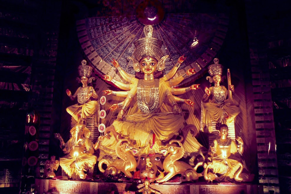 chinese themed durga idol 2