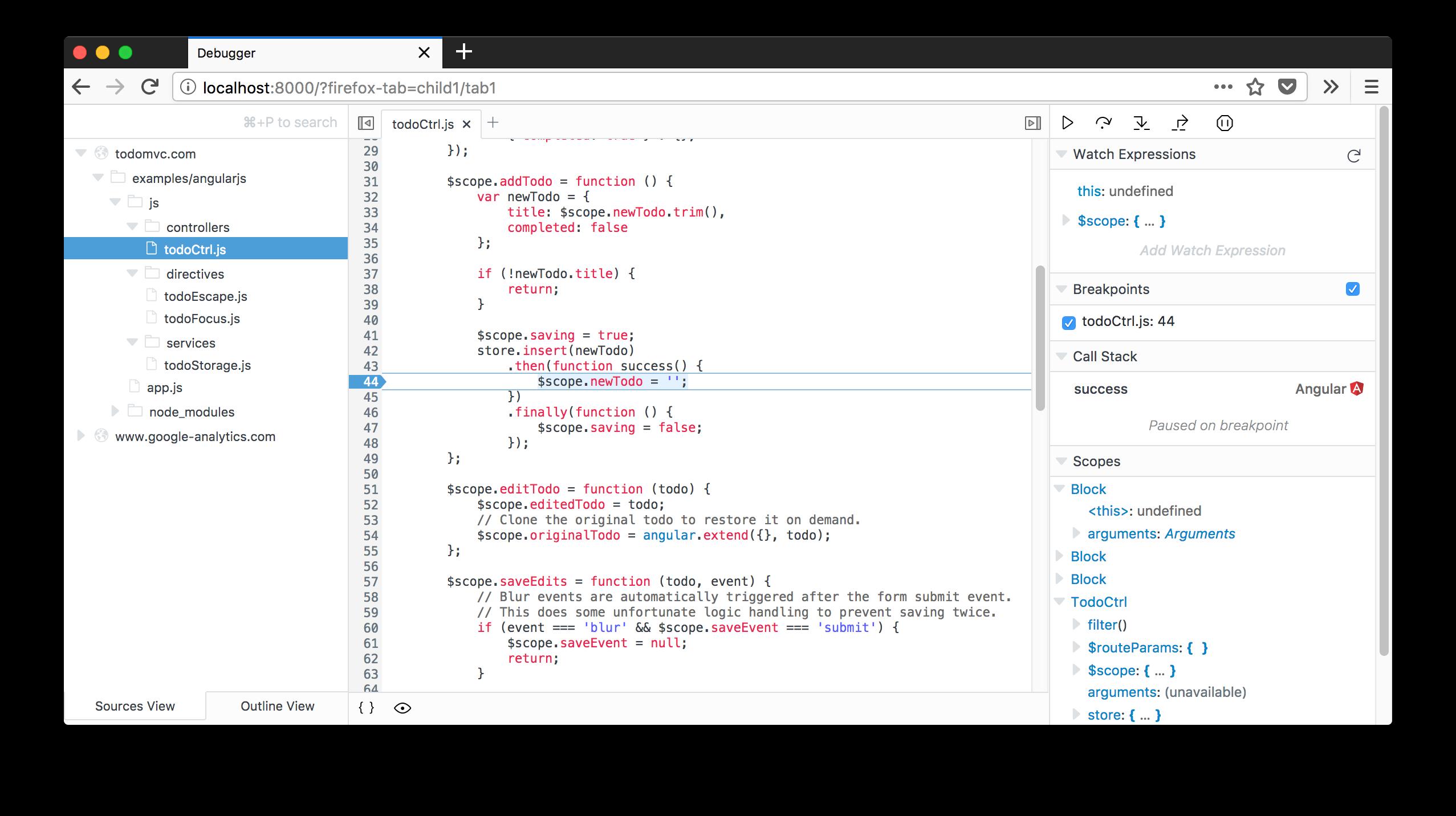 Firefox DevTools Debugger