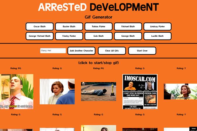 Arrested Development Gif Generator
