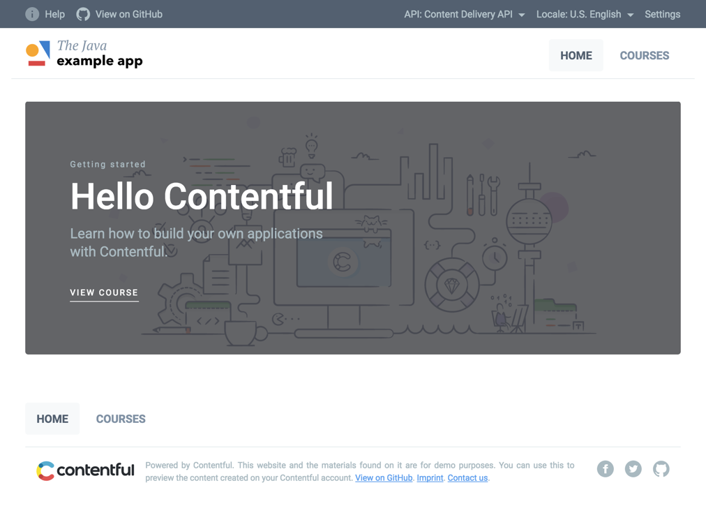 GitHub - contentful/the-example-app java: Example app for