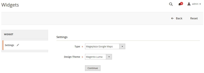 Magento 2 Google Maps widget
