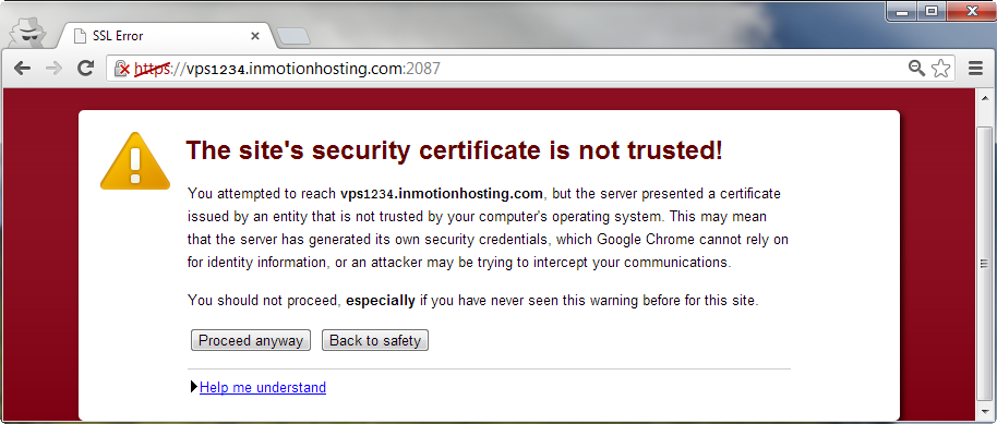 Untrusted Cert