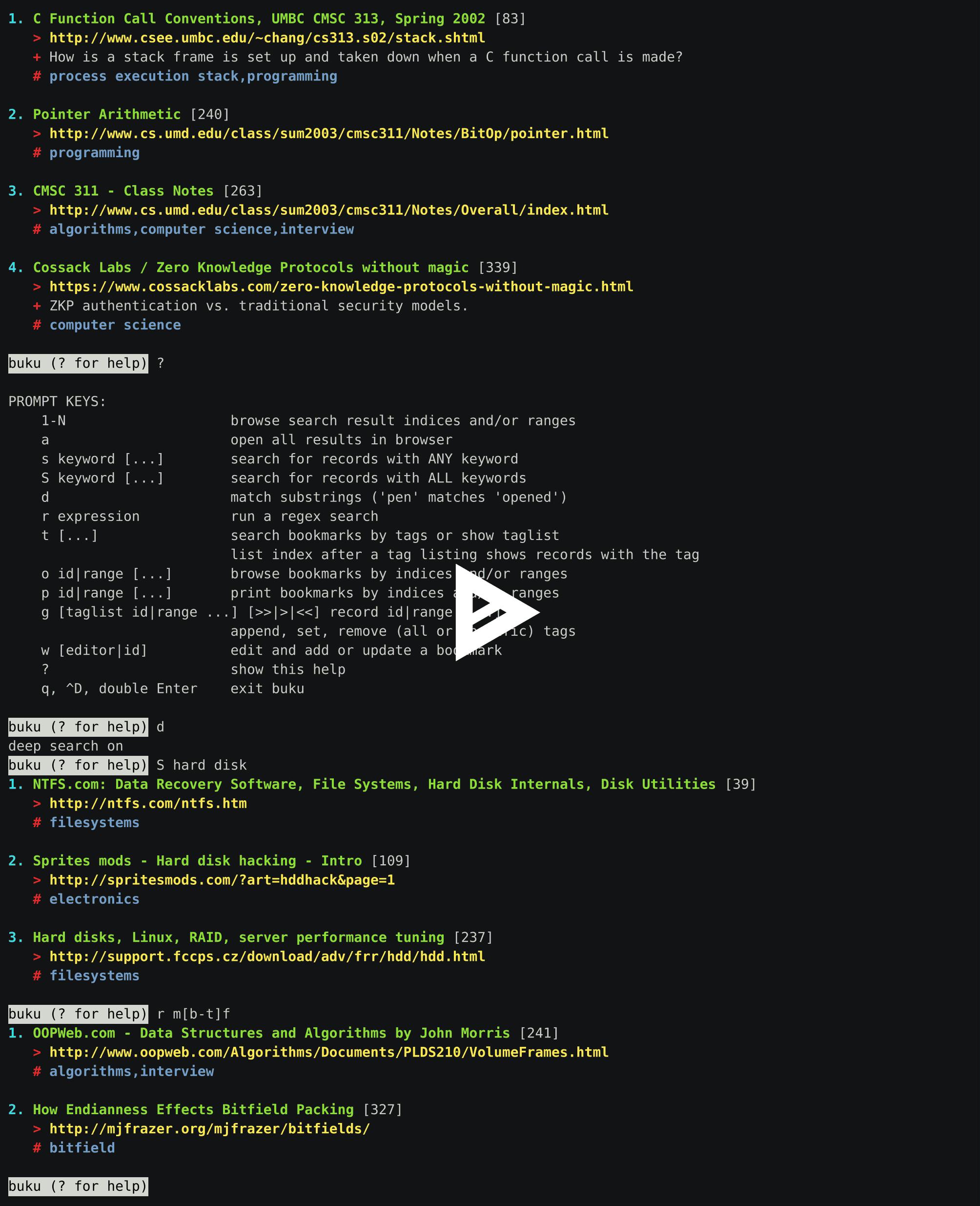 Buku/docs/source at master · jarun/Buku · GitHub