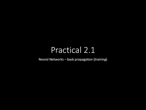 Practical 2.1 - NN backward
