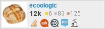 profile for ecoologic on Stack Exchange, a network of free, community-driven Q&A sites