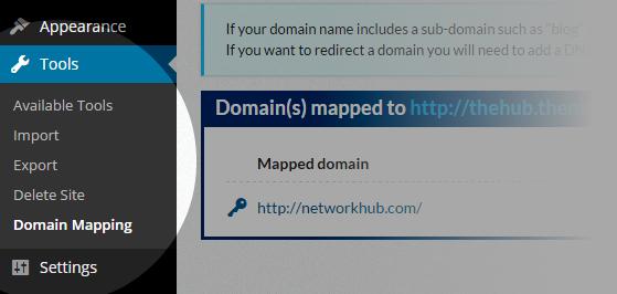 Domain Mapping - Tools Domain Mapping menu