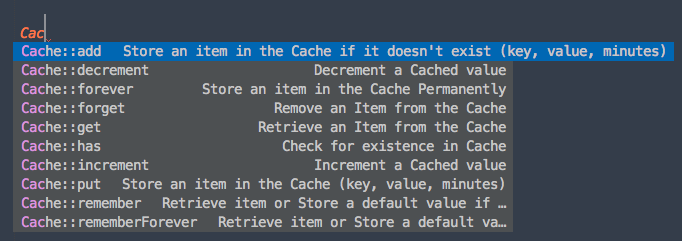 Laravel Cache Screenshot
