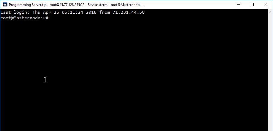 Example-RootPassEnter