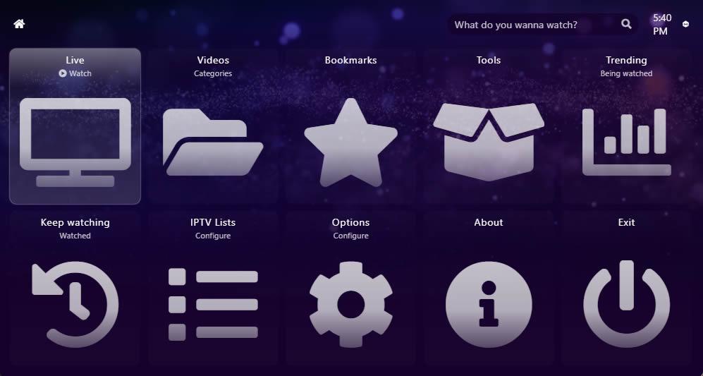 Megacubo UI screenshot